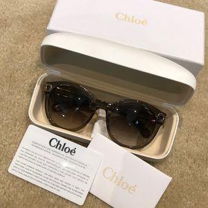 Chloé Grey Gradient Cat Eye Sunglasses